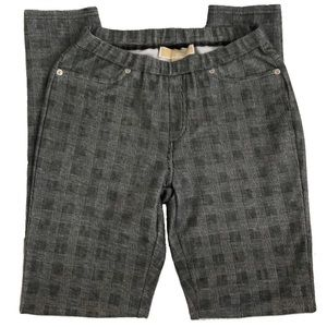 Michael Kors Casual Plaid Skinny Elastic Pants